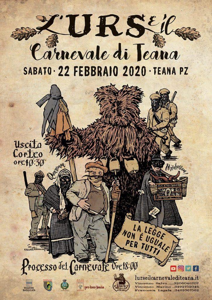 L'Urs e il Carnevale di Teana 2020