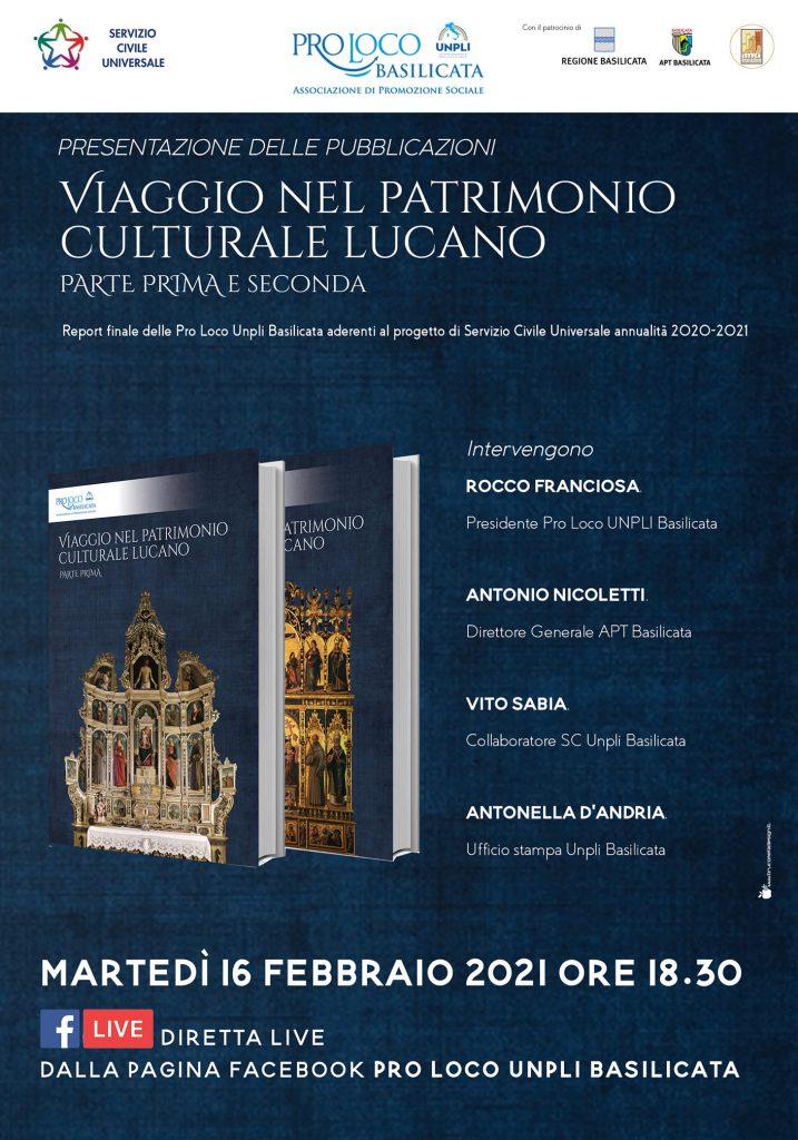 """Presentazione delle pubblicazioni """"Viaggio nel Patrimonio culturale lucano"""""""