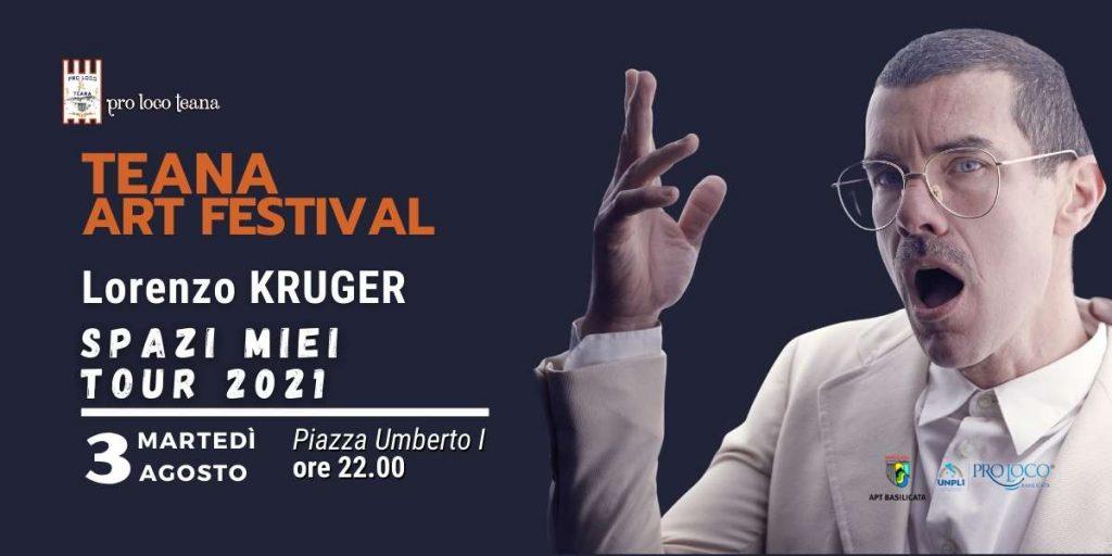Teana Art Festival | LORENZO KRUGER SPAZI MIEI TOUR 2021